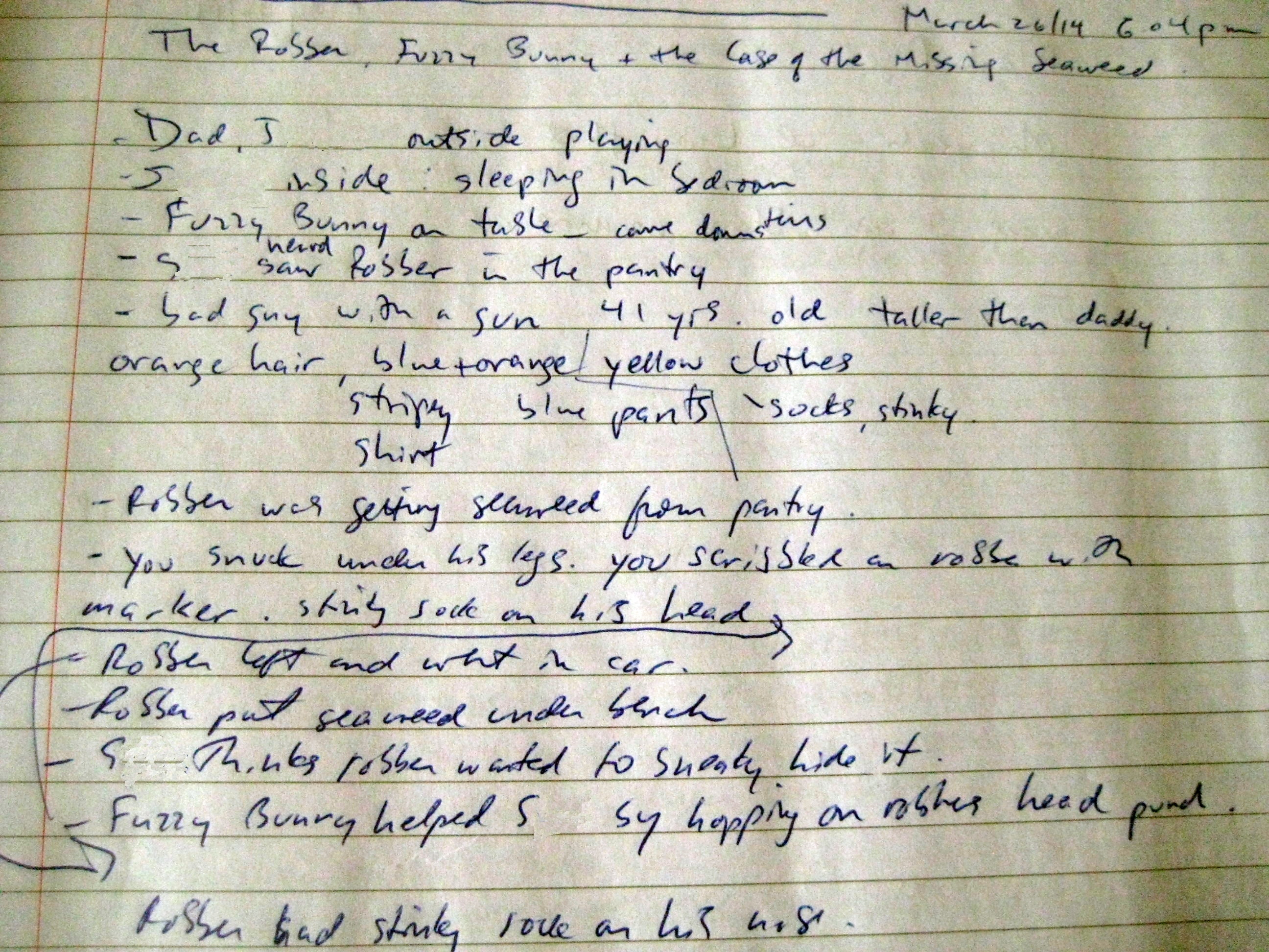 Draft story outline