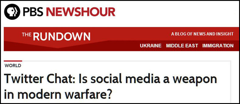 Twitter Chat: Is social media a weapon in modern warfare?