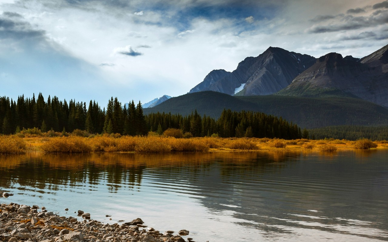Canada-alberta-autumn-mountains-forest-lake-blue-sky-clouds-1800x2880_large