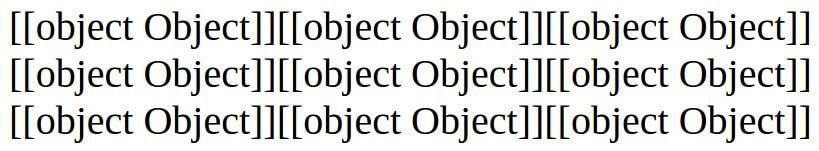 Tabuleiro desenhado com [object Object]