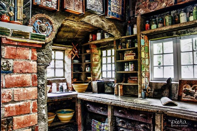 A tile-maker's crafting room