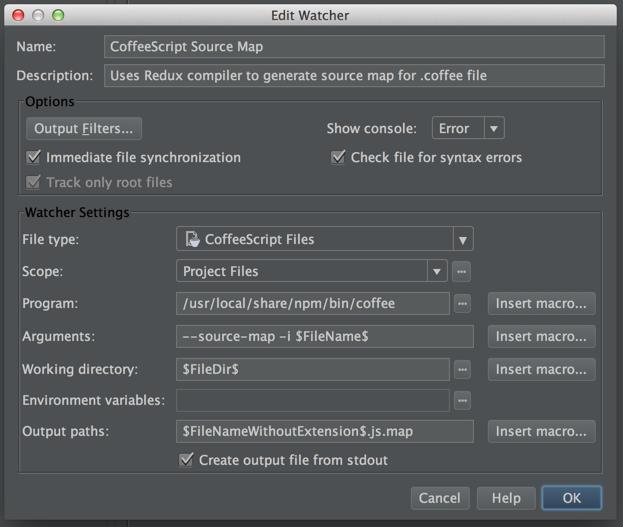 Sourcemap configuration
