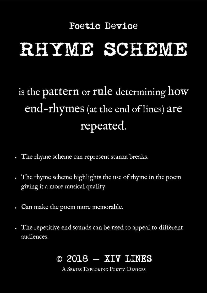 ferrick gray - rhyme scheme