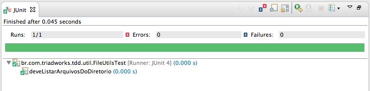 Testando listagem de arquivos - jUnit