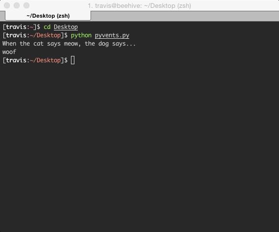 cool terminal output
