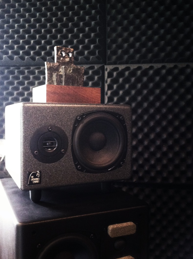 Pennie Sculpture on Speaker Stack