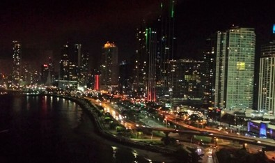 Panama City Bay Night