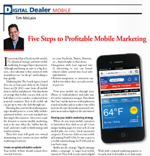 Mobile marketing sells more if you follow these 5 steps
