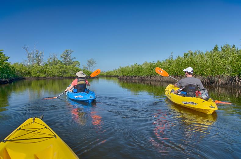 Kayaking out