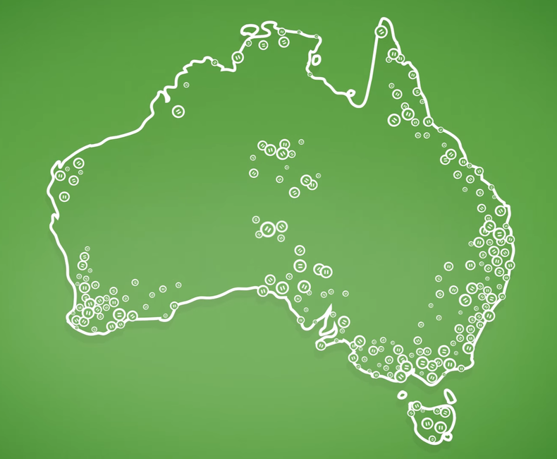 2016 Australian Census Map