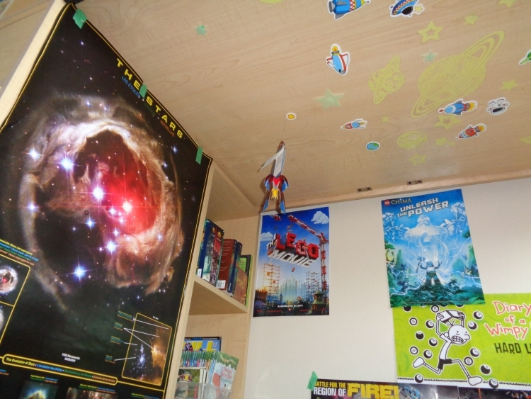 Stars on ceiling