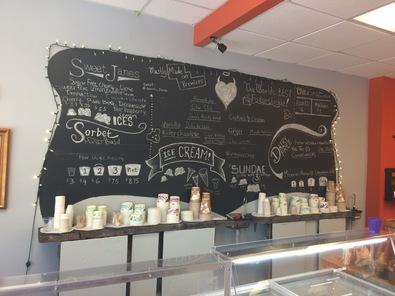 Sweet Janes menu board