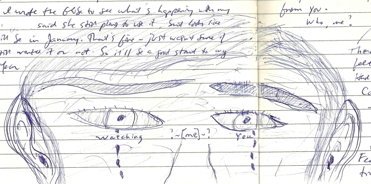 Sketch of man crying