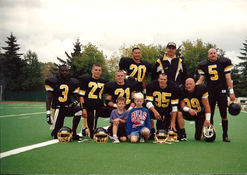 University of Waterloo Warrior defensive backs 1994