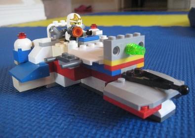 Lego custom built plane with Zane piloting