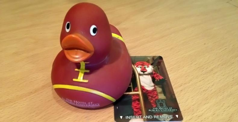 Auburn rubber duck