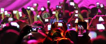 Smartphones at concert image
