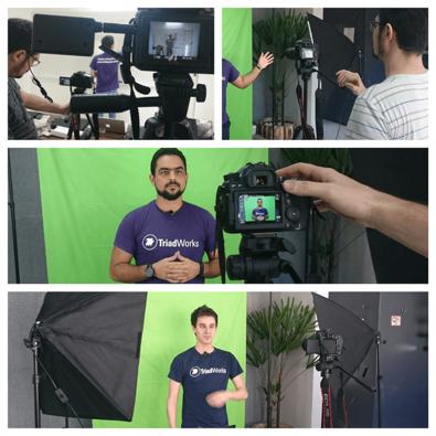 Gravação de vídeos na TriadWorks - Projeto Saindo da Inércia