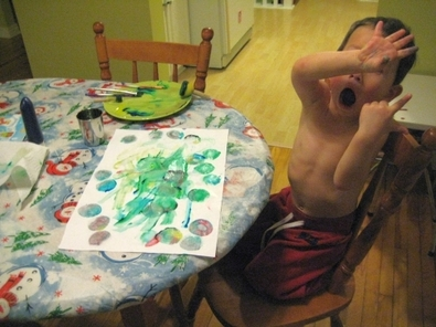 Son painting