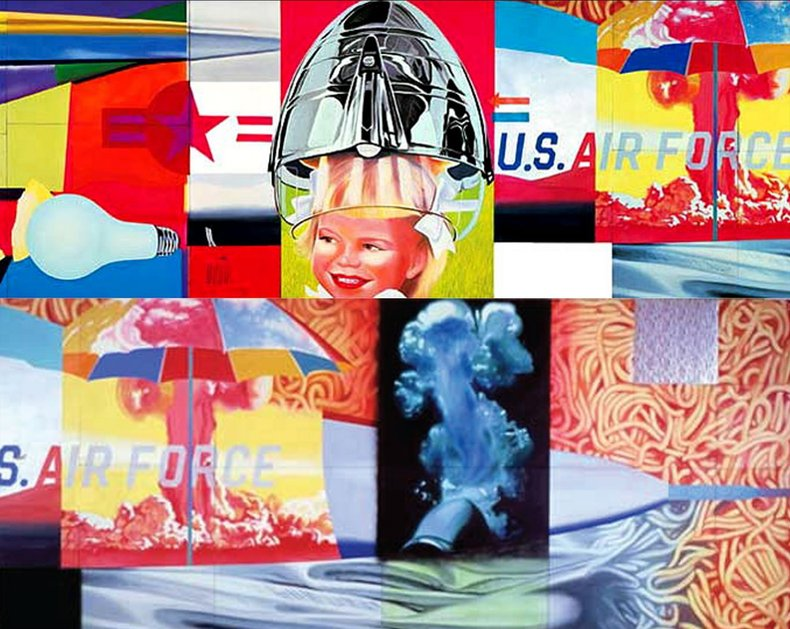 James Rosenquist, F-111 (detail), 1964-5. Oil on canvas with aluminum, 23 sections © James Rosenquist. Museum of Modern Art, New York