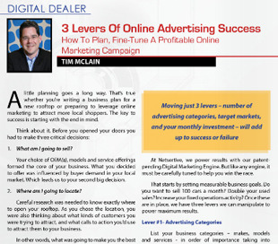 3 levers can be employed to boost online marketing results