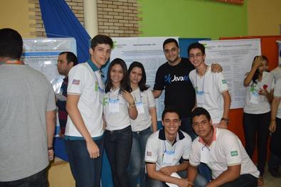 Alunos do IFMA com o Prof. Gesiel Rios