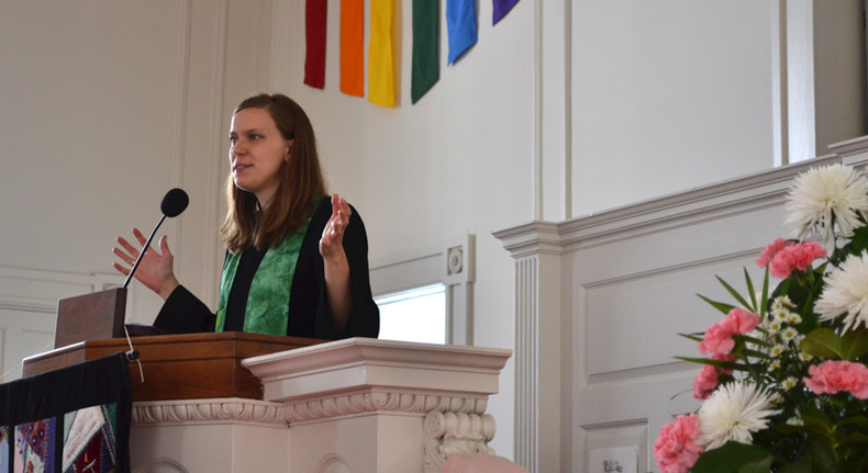 Rev. Allison Palm preaching