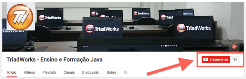 Canal Youtube da TriadWorks