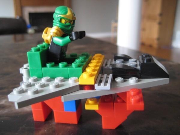 Lego plane with Lloyd