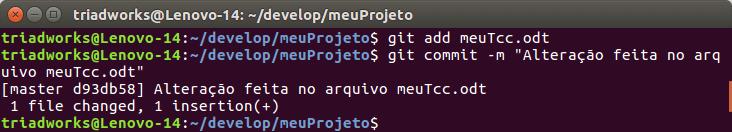 Git add com mais um commit alterando o arquivo