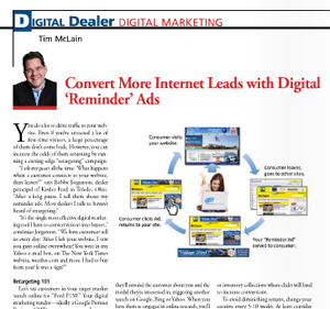 Convert web traffic into leads by bringing them back with retargeting search display