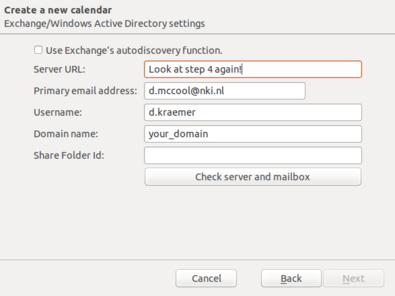 Step 10e: Use the EWS server again
