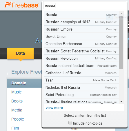 Russia Dropdown