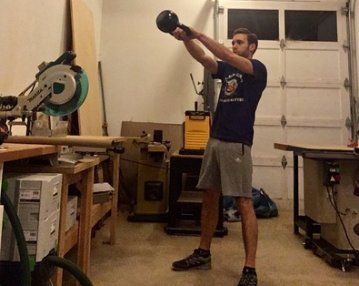 me doing kettlebell swings