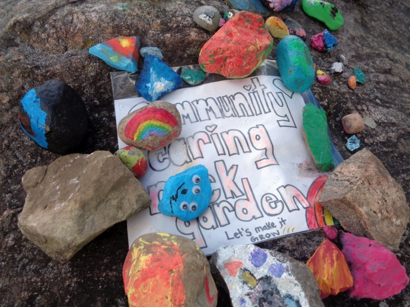 Community caring rock garden, Carson Grove Elementary School, Ottawa