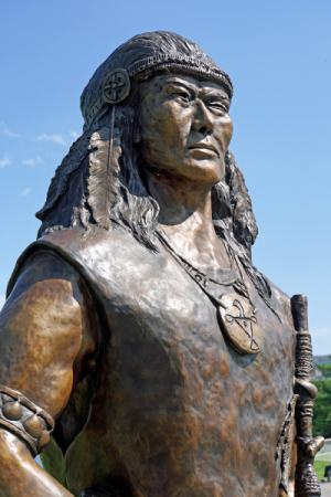 Statue of Tessouat, Algonquin chief, early 1600's