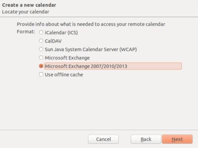 Step 10c Exchange calendar