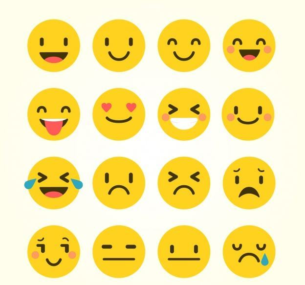 A range of emojis