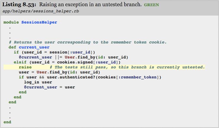 Code-branch raise