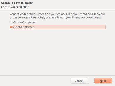 Step 10b: Network calendar