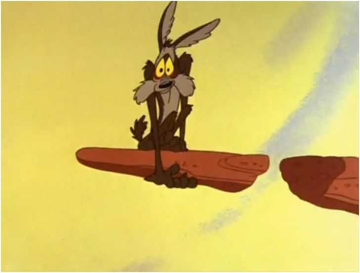 wile e coyote defies the baseline