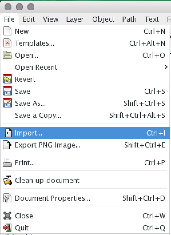 File > Import