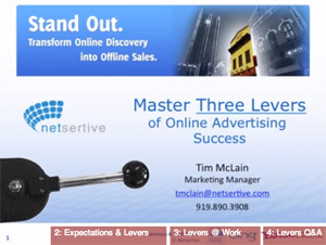 3 levers of online marketing success