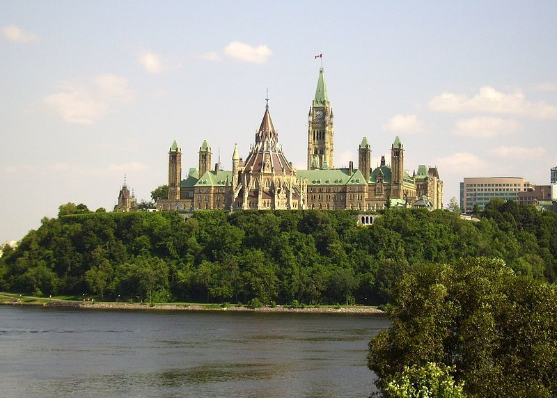Parliament Hill, Ottawa, view from Gatineau