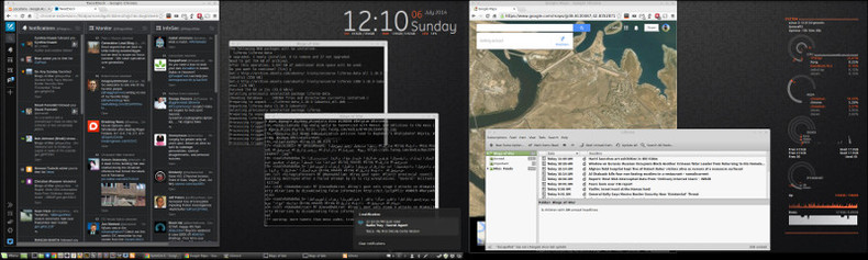 "Linux Mint 17 ""Qiana"" Cinnamon Screenshot"